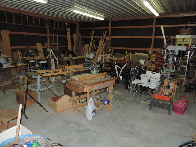 Interior of workshop